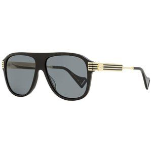 New Unisex Gucci Black & Gold Sunglasses